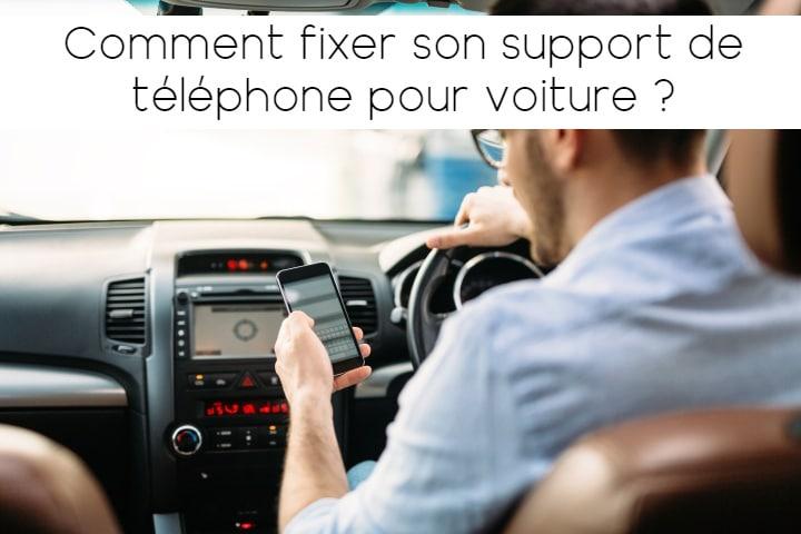 Fixer un support de téléphone voiture
