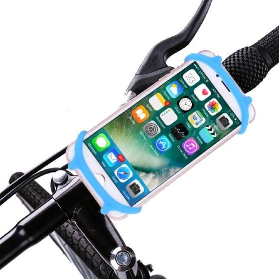 support smartphone moto bleu