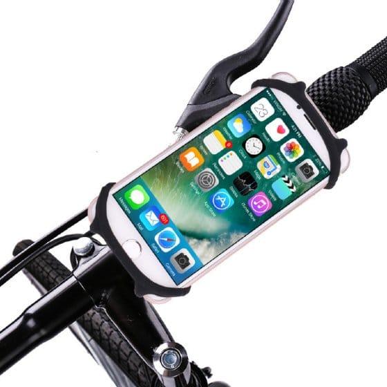 support smartphone moto noir