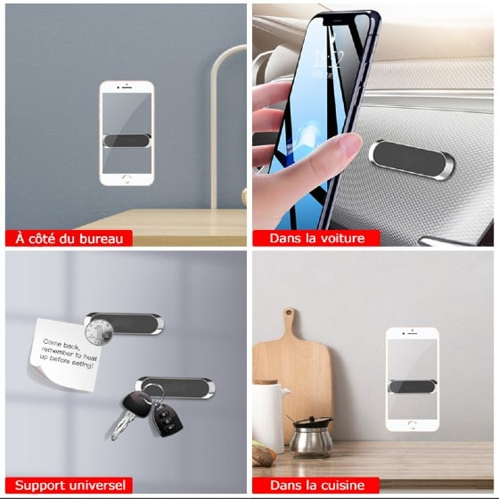 support téléphone magnétique voiture