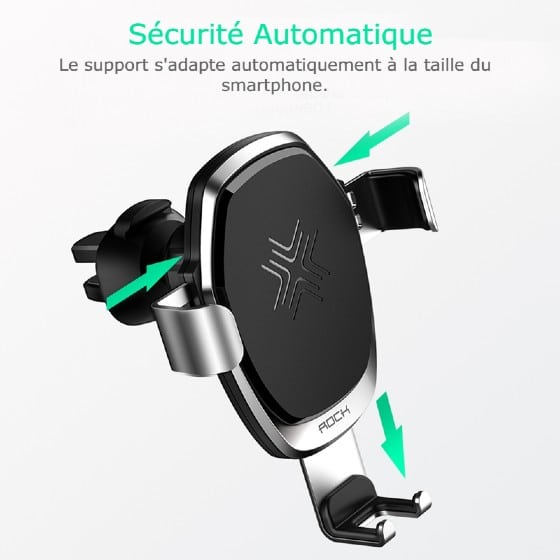 support telephone voiture chargeur induction