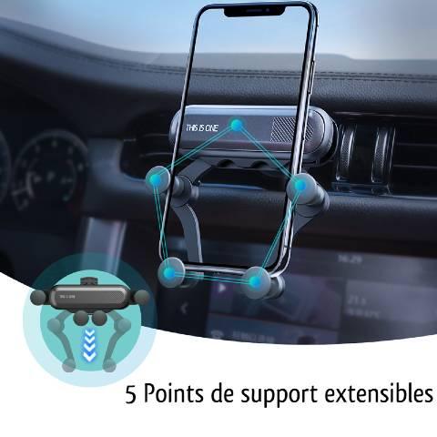 support téléphone voiture grille aération fonctionnement