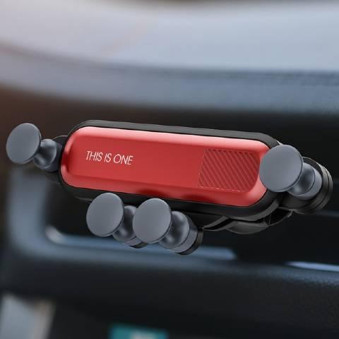 support téléphone voiture grille aération rouge