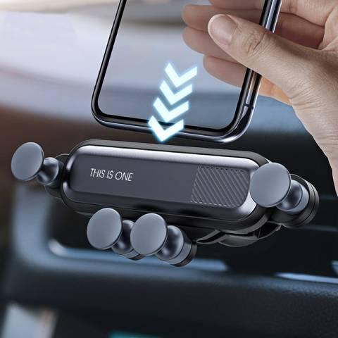support téléphone voiture grille aération