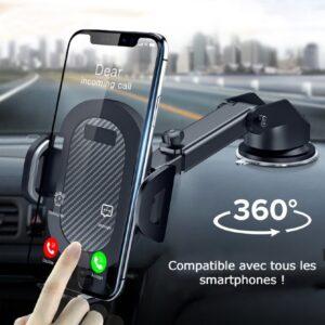 support téléphone voiture ventouse