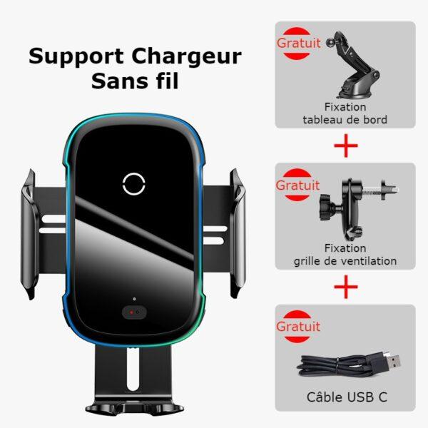 Support chargeur téléphone voiture pack