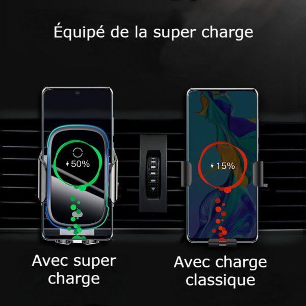Support chargeur téléphone voiture super charge