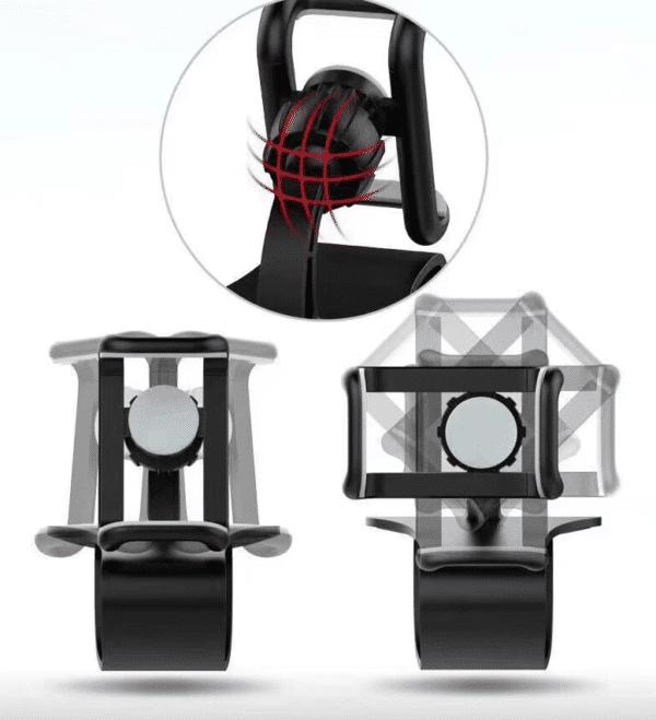 Support tableau de bord téléphone rotatif 360°