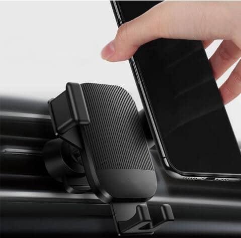 Support téléphone voiture sur grille ventilation