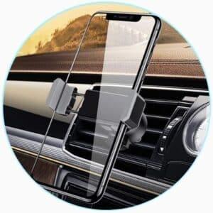 Support Téléphone pour voiture avec fixation à la grille d'aération