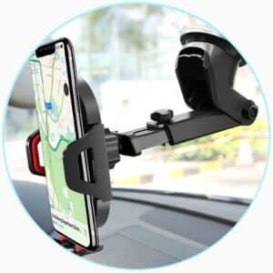 Support téléphone pour voiture avec fixation ventouse