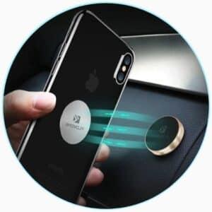 Support téléphone pour voiture avec fixation magnétique