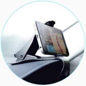 Support téléphone pour voiture avec fixation pince