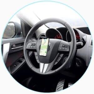 Support téléphone pour voiture avec fixation adhésive universelle